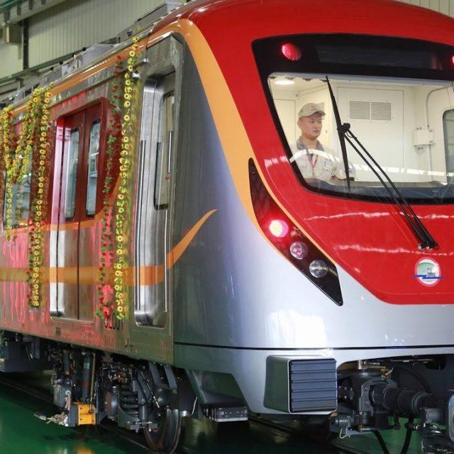 Inauguration of Lahore Orange Line Metro Train