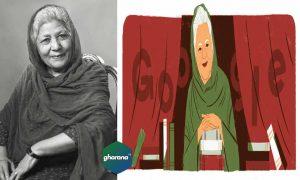 Bano Qudsia Birthday Doodle Today in Pakistan