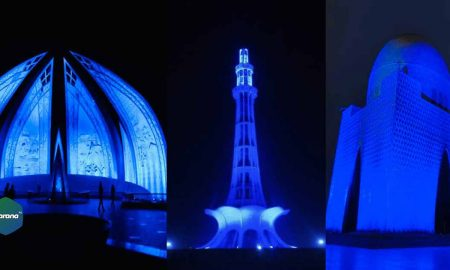 Pakistan Celebrated Children's Day 2020 by Cities turn blue #GoBlue