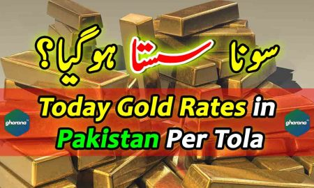 Today Gold Rates in Pakistan Per Tola