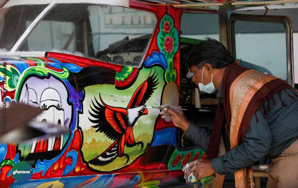 Pakistani Truck Art Designed Planes Touches From the Highways to the Skies