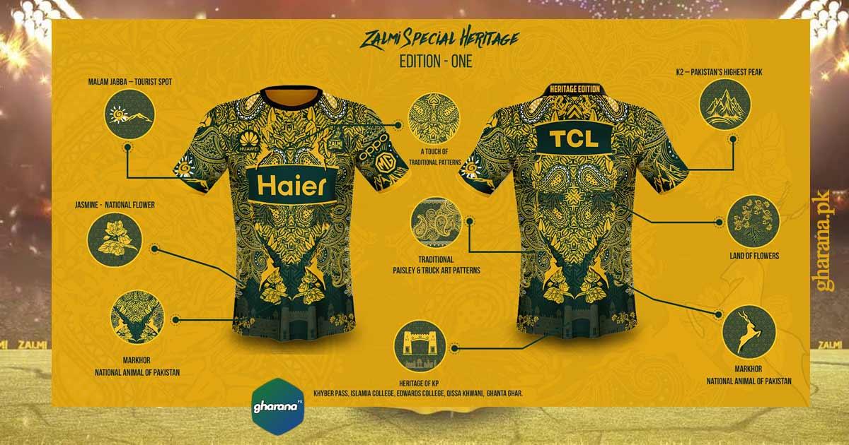 Peshawar Zalmi Kit 2021 Heritage Edition Training Kit